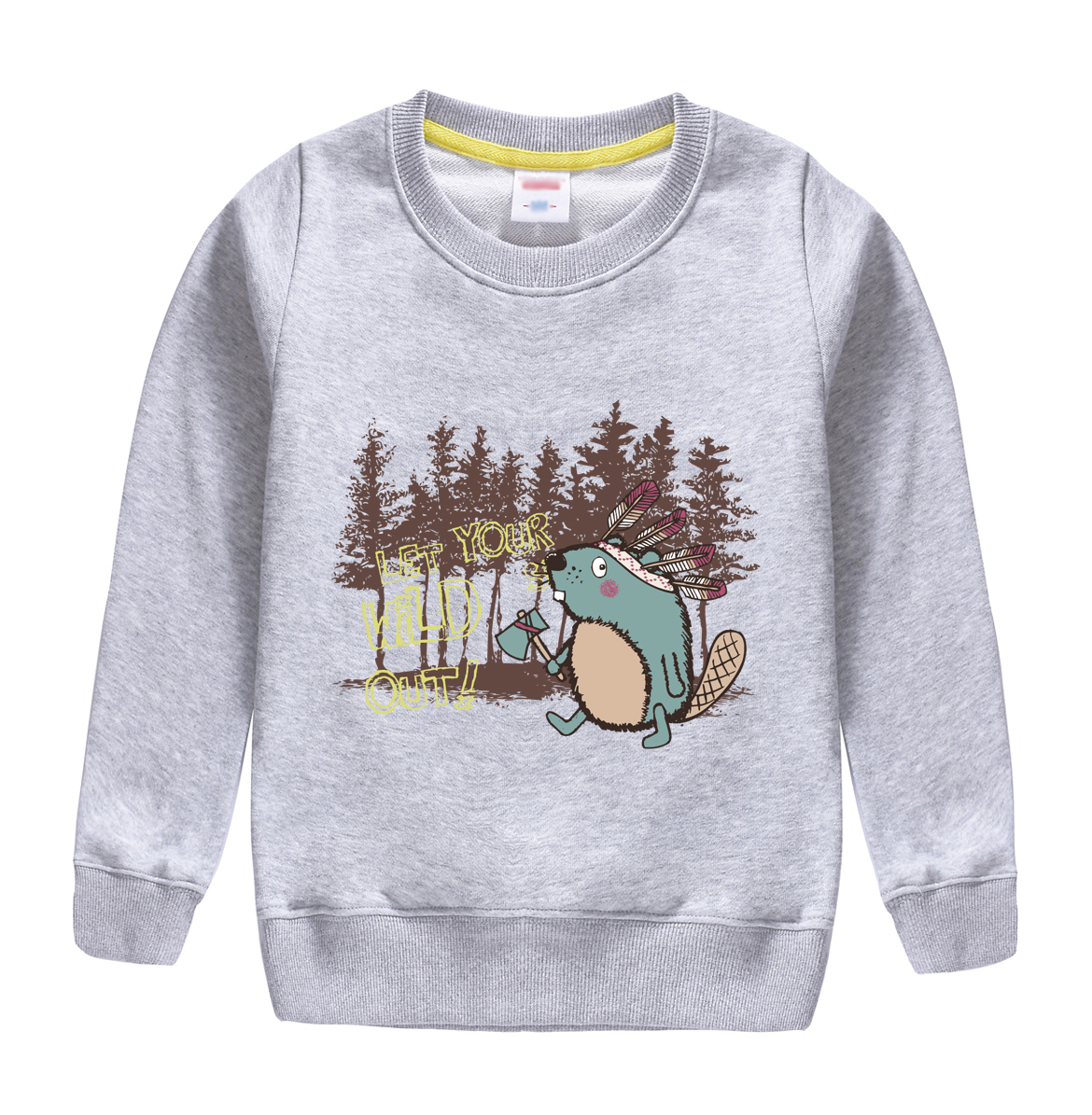 hot sale 2018 new fashion style of winter autum sweatshirt design for 4-13 t chilld hooded childrens clothing