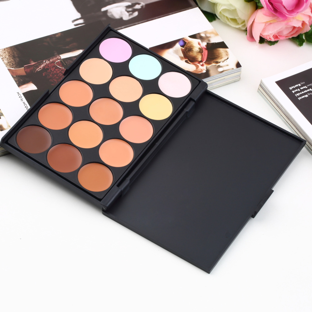 15 color professional women makeup facial beauty concealer 15 color professional women makeup facial beauty concealer camouflage cream palette make up cosmetic face care tools in body glitter from beauty health on izmirmasajfo