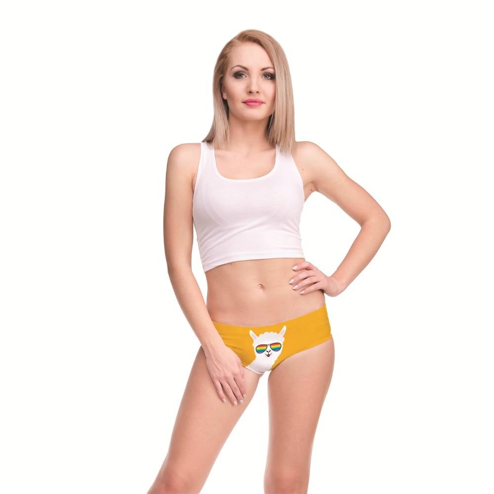 LEIMOLIS LLAMA SUNGLASSES funny print sexy hot panties female kawaii Lovely underwear push up briefs women lingerie thongs in women 39 s panties from Underwear amp Sleepwears