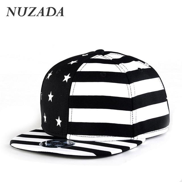Brands NUZADA Hip Hop Hats  Sports Women Men Baseball Caps Snapback Workmanship Cotton Bone Cap American Stars Stripes jt-005
