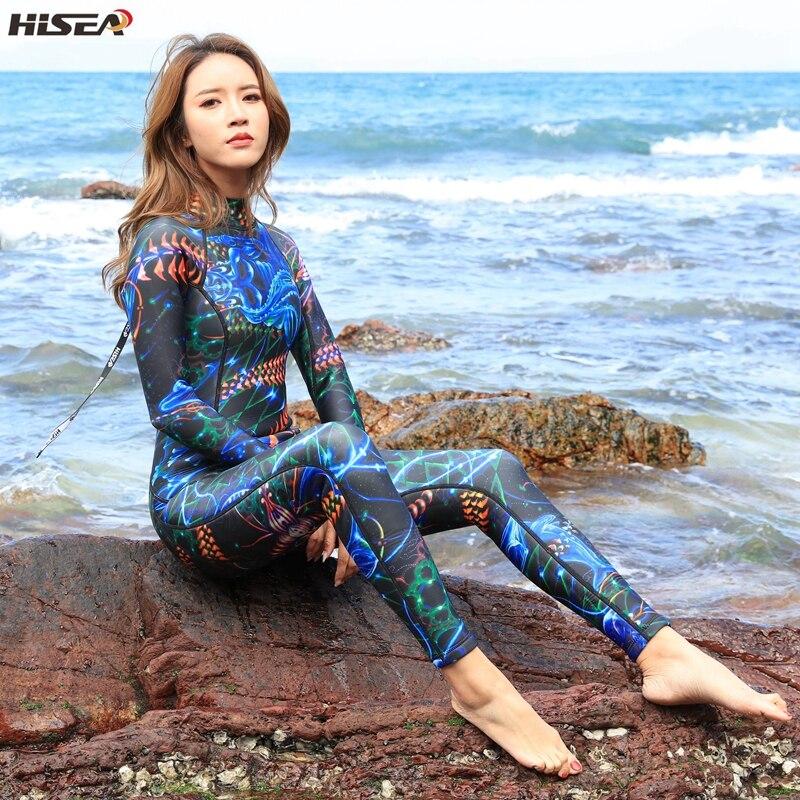 Hisea Frauen Neoprenanzüge 3mm Neopren elastische Schwimmen Surfen - Sportbekleidung und Accessoires - Foto 5