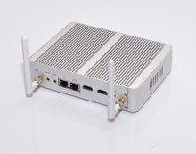 Dual LAN Quad core 2.08 Г N3150 X86 Микро компьютер X86 Безвентиляторный мини-пк QOTOM-M150S Celeron пк-Сервер