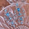 Relogio Feminino Блестящий Австрийский хрусталь Серьги Свадебных Ювелирных Ожерелье Рождество Уши Пирсинг Необычные Невесты Brincos Grandes