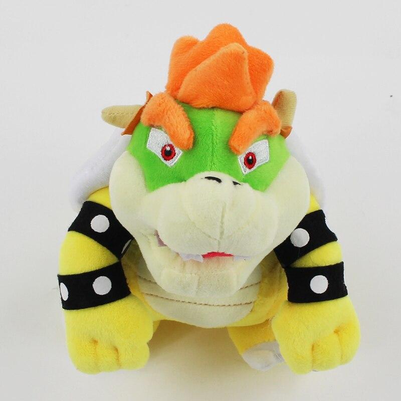1Pcs 18CM Super Mario Bros Plush Toys Bowser Koopa Soft Stuffed Dolls Gifts For Children Girls Christmas Gift 1