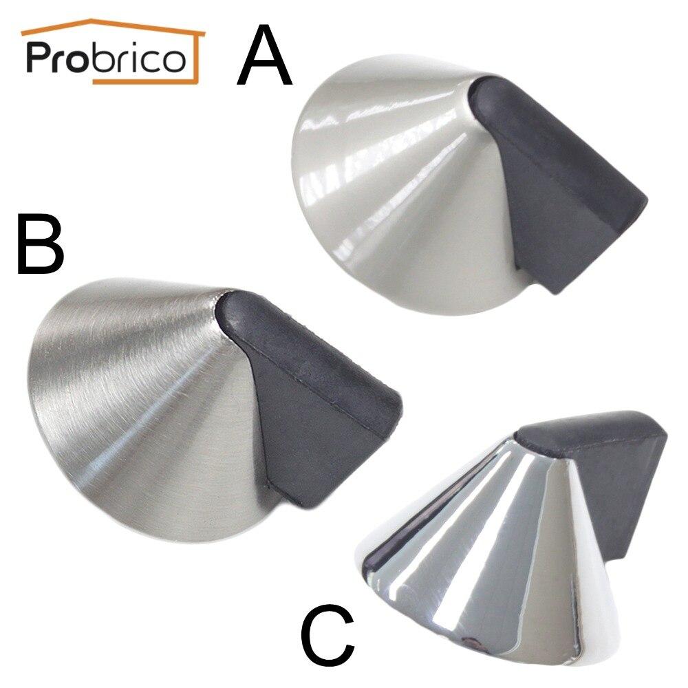 probrico door stopper ds8295 zinc alloy conical powerful door holder catch rubber door