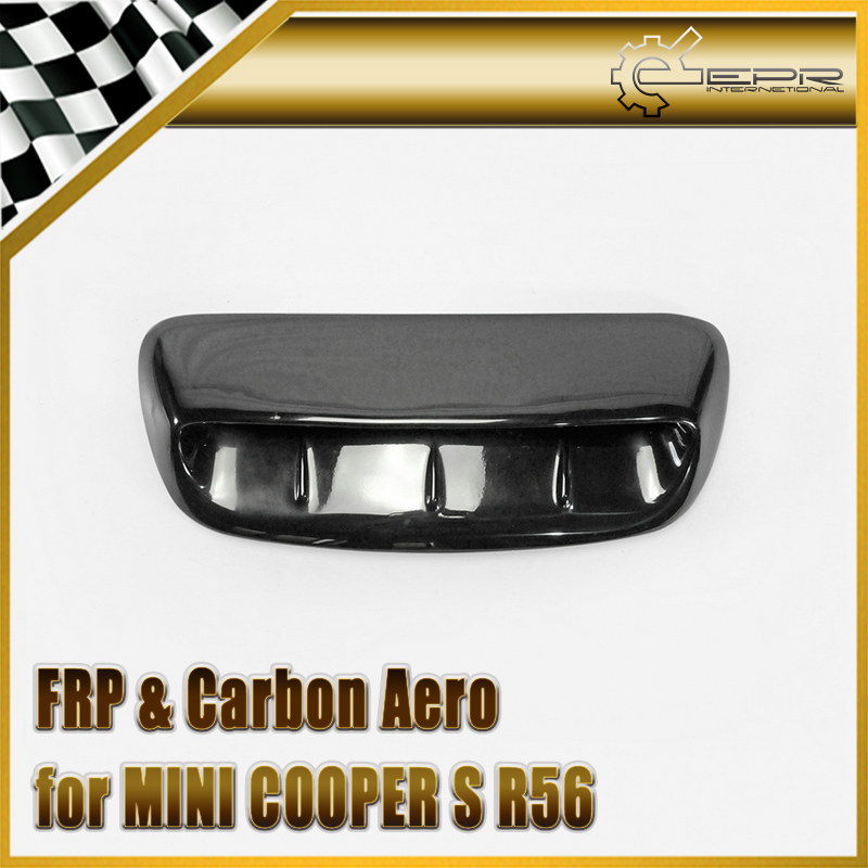 Car-styling FRP Fiber Glass Type A Hood Scoop (Larger) Fiberglass Air Vent Duct Body Kit Trim For Mini Cooper S R56 2007~2014