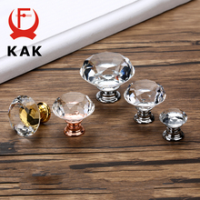 KAK 20-40mm Diamond Shape Design Crystal Glass Knobs Cupboard Drawer Pull Kitchen Cabinet Door Wardrobe Handles Hardware cheap Metalworking NONE CN(Origin) SJ1003 Furniture Handle Knob Others Modern Silver Gold Rose Gold Black Gray Please contact us