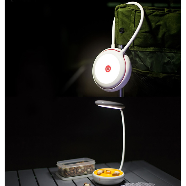 Creative Portable Flexible USB Light Desk Reading Bed Computer Lamp 3 mode Tent Torch Night Lights Outdoor Indoor