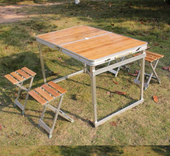 Outdoor portable folding tables and chairs tables outdoor picnic ...