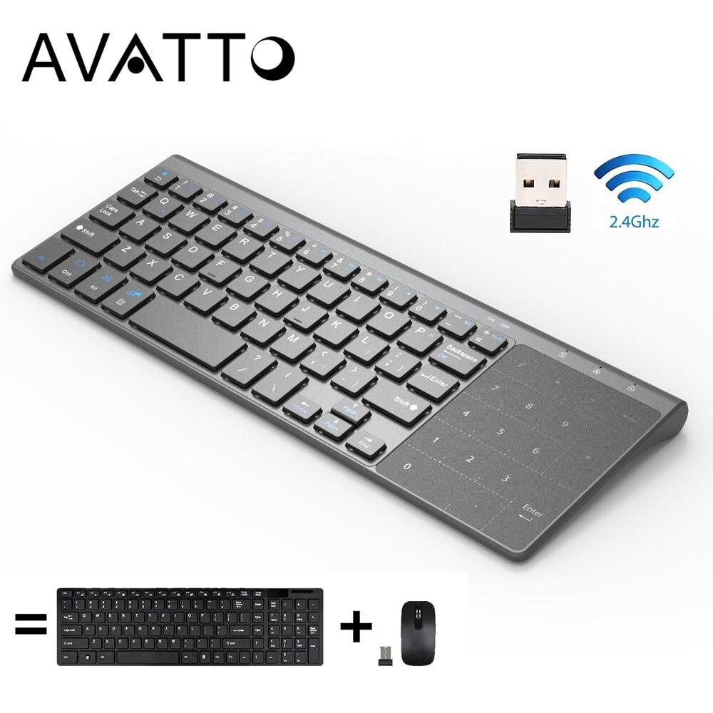 Angemessen [avatto] Thin 2,4 Ghz Usb Wireless Mini Tastatur Mit Anzahl Touchpad Numerische Tastatur Für Android Windows Tablet, Desktop, Laptop, Pc