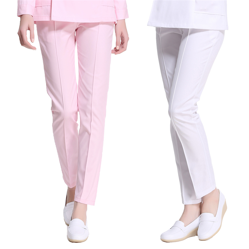 Medical Uniforms for Women Nurse Surgical Pant Hospital Doctors Scrub Work Wear Thin Solid Nursing Scrubs Pant Costumes image