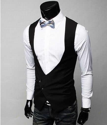 メンズフォーマルベスト高品質 2016 黒グレー男性ジレ衣装オムためのドレスベストクラシックパーティードレスフォーマルメンズベスト