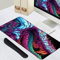 Игровой 900x400 мм большое чудовище XL Большой запирающийся край игровой коврик для мыши CS GO клавиатура резиновый коврик для мыши подставка для ...