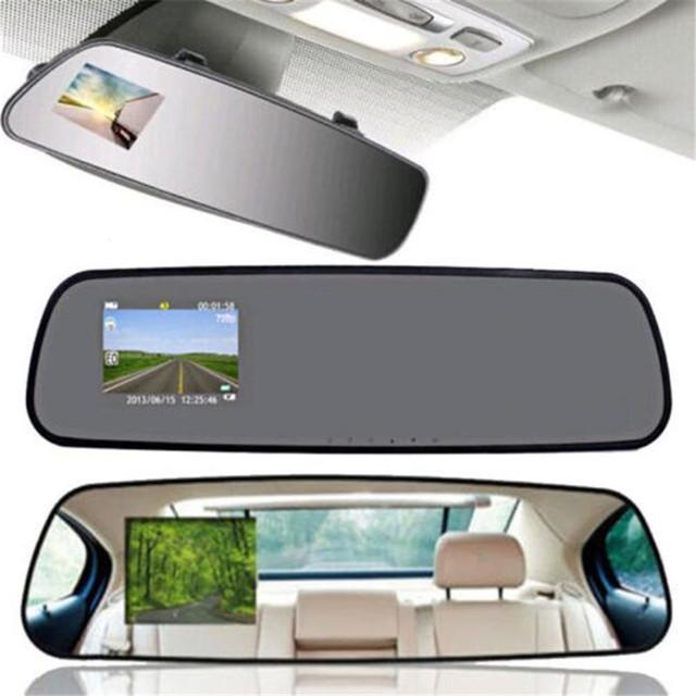 2.4 HD 1080 P Câmera Car Veículos DVR Cam Traço Vídeo Recorder Espelho Retrovisor