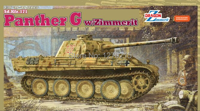 [Dragon] Plastic Model Kit 1/35 Panther G w/Zimmerit (6384) нож строительный vira 831301 18мм