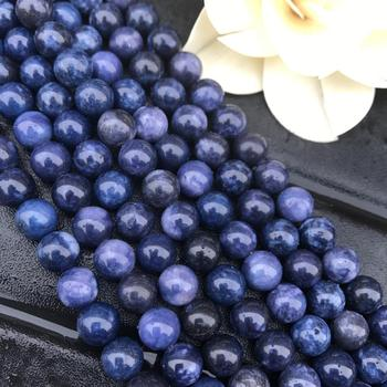 цена AAA Natural Blue Sodalite Stone Beads Round Loose 15