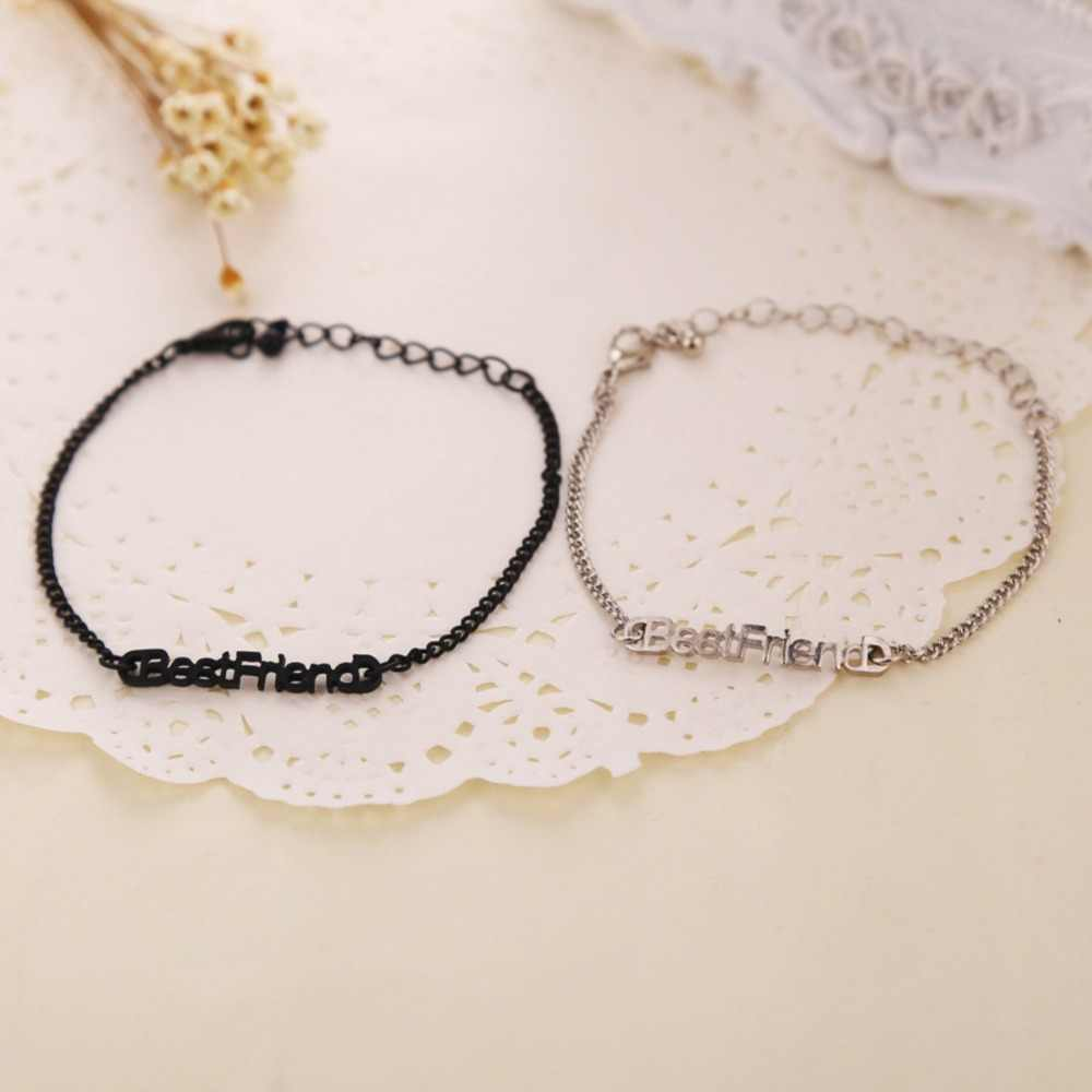 High Quality Fashion Jewelery Accessories Female Model Good Friends Gift Bracelet - Color Black Gold Silver BL-0374