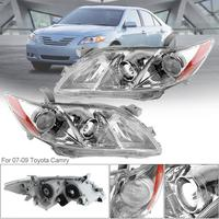 1Pair Universal Durable Auto Headlamps Clear Projector Left And Right Car Headlights For 07 09 Toyota Camry CE LE SE