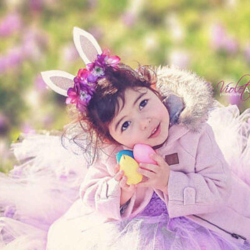 Orelha de Coelho Partido Floral Headband Cabelo mágico Crianças Baby Girl Crianças Cosplay Presente Decorativo Headwear Frete grátis