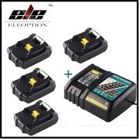 4x ELEOPTION 18 В 2000 мАч литий ионная Мощность инструмент Батарея для Makita 194205 3 194309 1 bl1815 + 1x 7.2 В 18 В Зарядное устройство