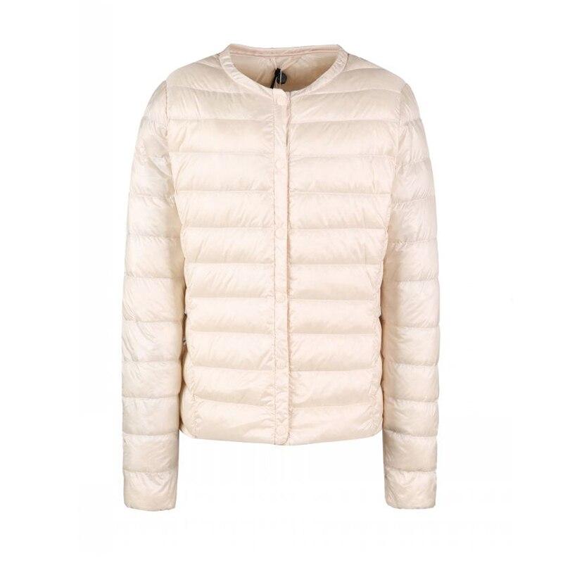 Image 5 - Fitaylor New winter Women Ultra Light White Duck Down Jacket  Short Coat Slim Casual Down Coats Female Plus Size S 3xl Warm ParkaDown  Coats