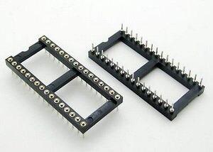 15 шт. 32 Pin Круглый DIP IC Разъем адаптер 32 Pin шаг 2,54 мм разъем