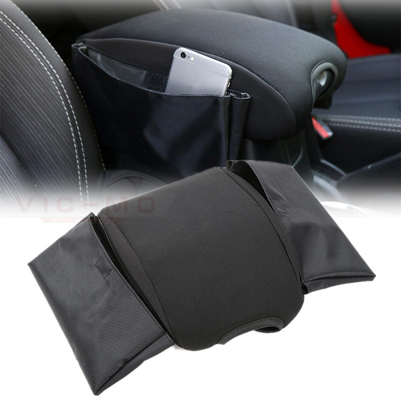 Black Multifunctional Cotton Car Armrests Pads Cover Center Console Armrest Seat Box Pad for Jeep Wrangler 2007 - 2017 Up free punch car armrest console box 9 functions with usb hidden cup seat no drilling car central box