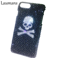 Bling Case For Iphone 5 5s Rhinestone Skull Diamond Hard Protection Phone Cover For 6 6s