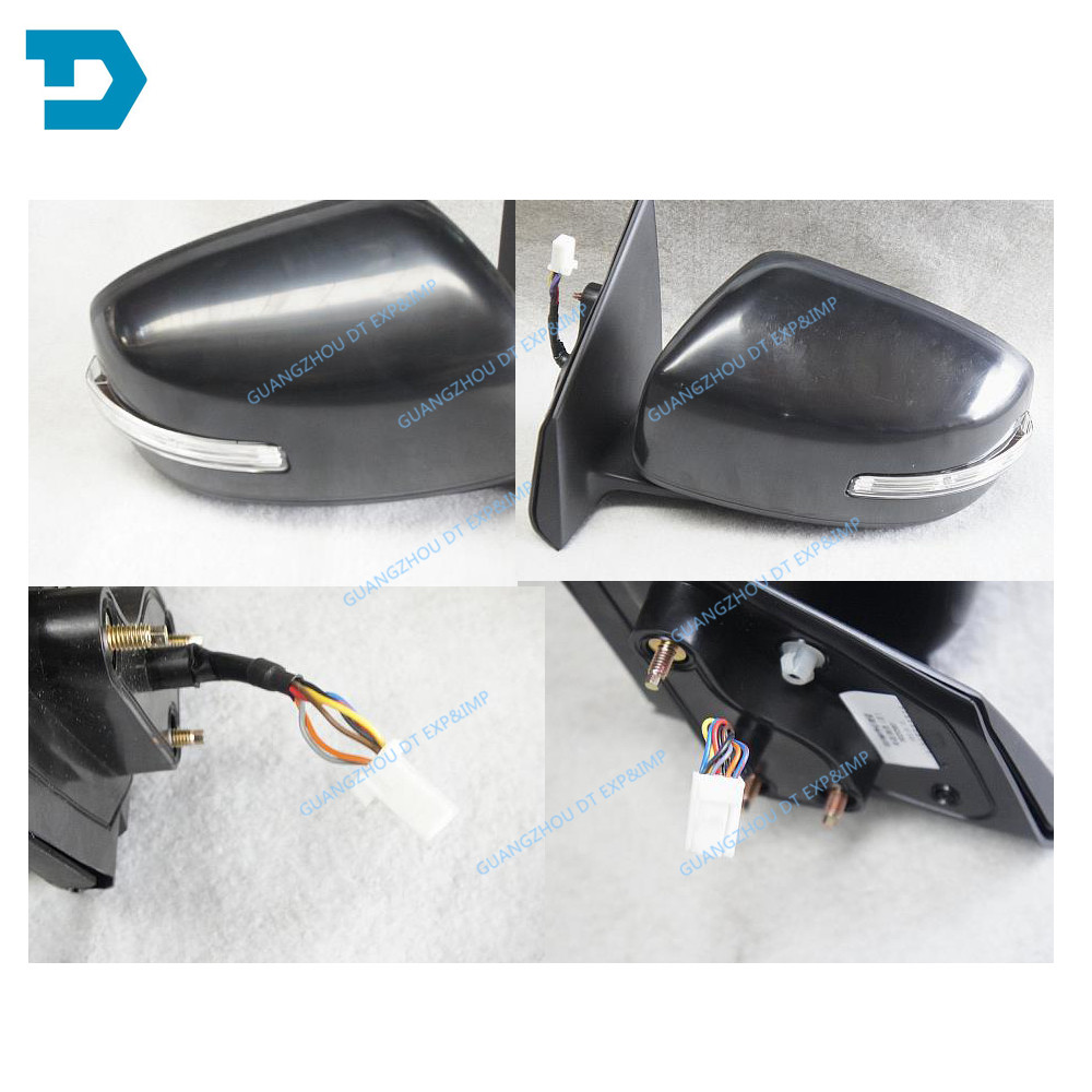 2007-2017 lancer auto fold side mirror 7 wires with lamp for mitsubishi lancer rear mirror with turning signal lamp no painting