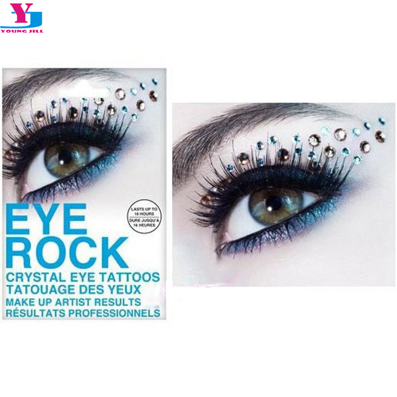 3d rhinestonetemporary tattoo eyeshadow sticker crystal for Crystal eye tattoos