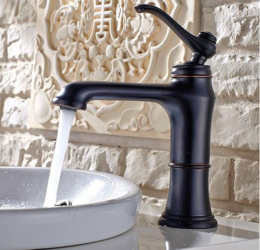 New Arrivals Antique Basin Faucet copper Bathroom Sink Faucet Luxury Sink Mixer Faucet Hot & Cold Black Oil Bathroom Water Tap new arrivals golden and white color waterfall faucet tall bathroom faucet bathroom basin mixer tap with hot and cold sink faucet