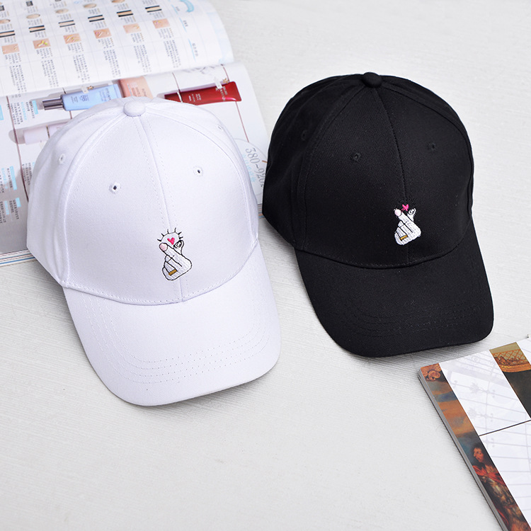 Korean Love Finger Gestures Baseball Caps Women Men