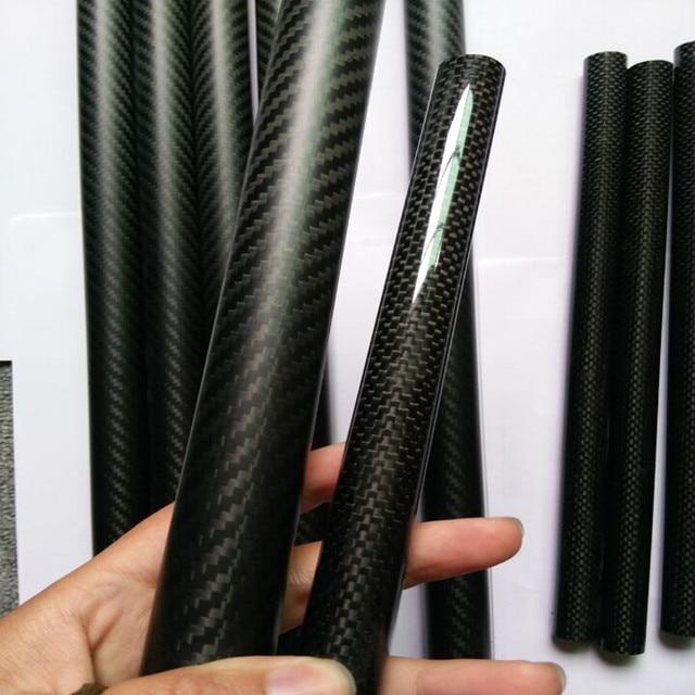 Tube léger en Fiber de carbone sergé 3K Tube 5*3*1000mm 5mm pour voltige avion RC/cerf-volant