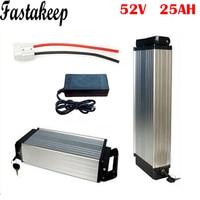 Ebike Rear Rack Batterij 52 V 25ah Elektrische Fiets Lithium Batterij 52 V 1500 W Batterij Voor Elektrische Fiets-in Elektrische Fiets batterij van sport & Entertainment op