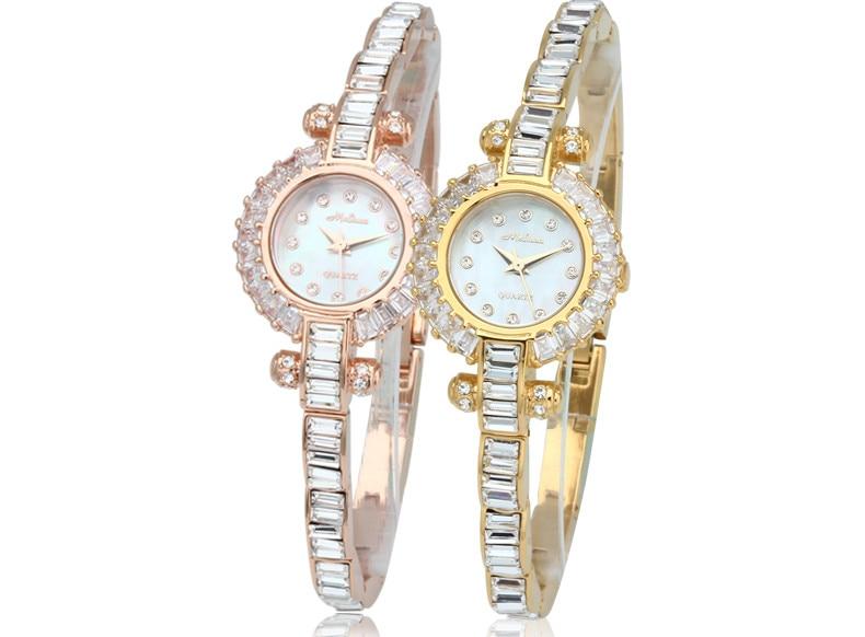Cool Ultra-thin Bracelet Watches Women Luxury Crystals Dress Wrist watch Elegant Lady MELISSA Jewelry Watch Montre Femme F8130 вишневый сад 2018 10 15t19 00