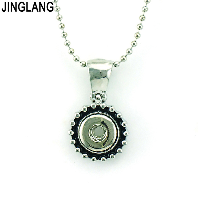Jinglang brand new fashion retro interchangeable pendants necklace jinglang brand new fashion retro interchangeable pendants necklace 12mm snap button necklace for men jewelry free aloadofball Images