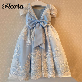 Fancy New 2018 Flower Girl Dresses with Bow Vestidos Daminha First Communion Dresses For Girls Girls Pageant Gowns For Weddings