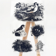 JC Rubber Stamps for Scrapbooking Birds Sheet Silicone Seals Craft Stencil Album Paper Card Making Template Clear Stamp