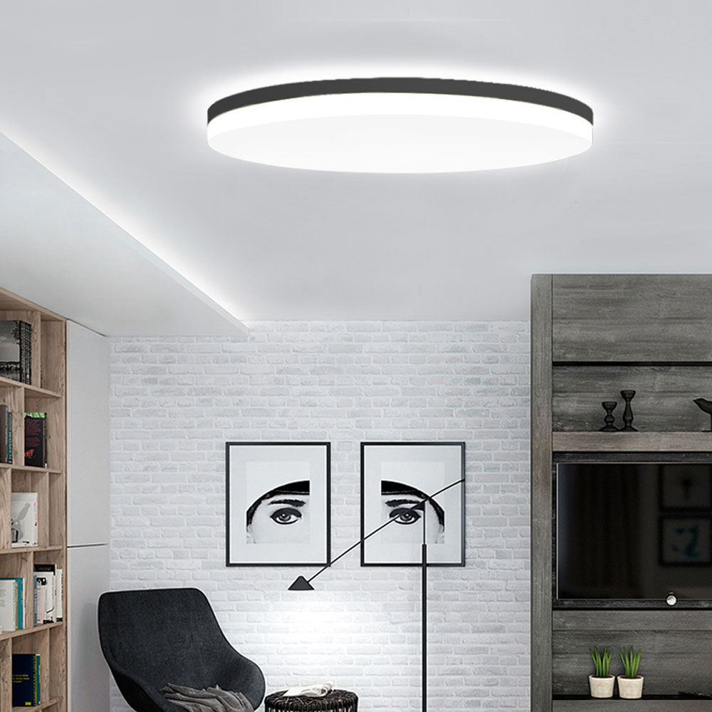 Led ceiling lamp living room lamp super thin round bedroom Ma caroon lamps modern minimalist creative lamps. creative round ceiling led lamp bedroom lamp modern minimalist living room dining lamps