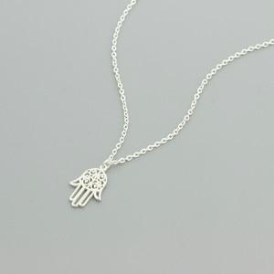 Image 5 - Arabic Soy Luna Hamsa Hand Pendant Necklace Women Men Amulet Stainless Steel Gold Color Hand of Fatima Choker Islamic Jewelry