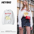 BUTTER crewneck Sweatshirts HEYBIG men Harajuku Streetwear Pullovers 2016 Hiphop Youth Hippest Hoodies Chinese Size Clothing