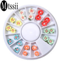 Mtssii New Fashion Women Ceramic Flower Nail Art Sticker Nail Decals Phone Case DIY Jewelry Accessories Beauty Nail Weels Tools
