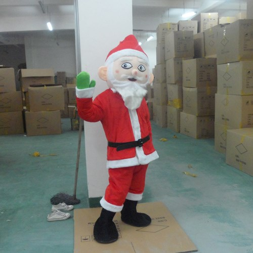 Santa Claus Mascot Costume  Cartoon Mascot Costume Festival Costumes Fancy Dress Costume  Adult Size Free Shipping