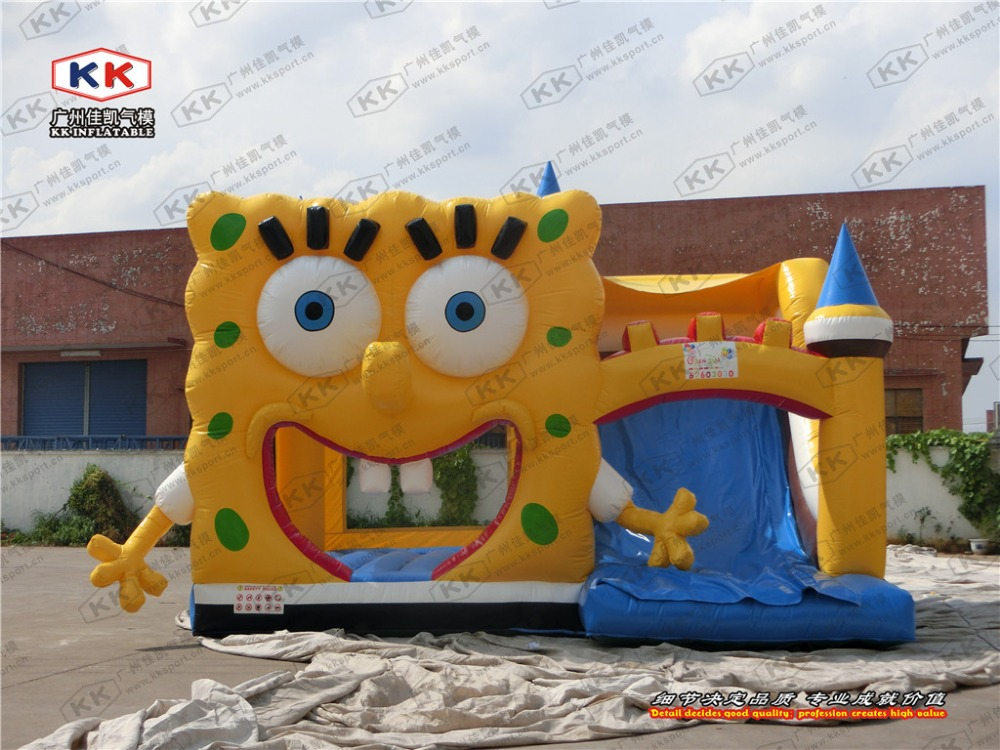 Yellow Cartoon Inflatable font b Bouncer b font For Children In Outdoor