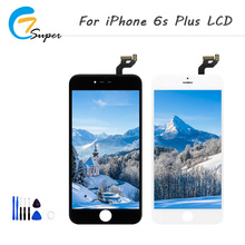 ET-Super  AAA+ Quality Black & Whit For iPhone 6s plus Touch assembly LCD Screen Maintenance tools  Free  Shipping