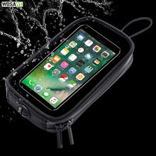 Universal Strong Magnetic Motorcycle Tank Bag Mobile Phone GPS Navigation Holder Bags Waterproof Touch Screen For iPhone Samsung motorcycle tank bags mobile navigation bag fits kawasaki send waterproof cover consulting model and year