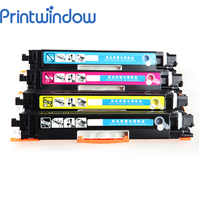 Printwindow Compatible Toner Cartridge CE310A CE311A CE312A CE313A for HP LaserJet Pro cp1025/cp1025nw 4X/Set|Toner Cartridges|Computer & Office -