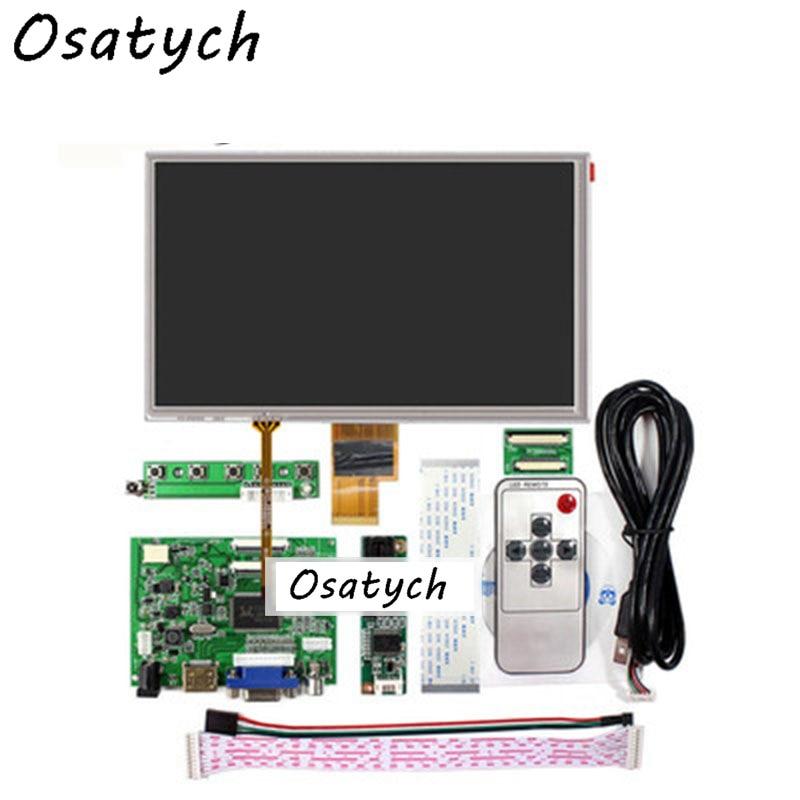 "New HDMI VGA 2AV USB Controller Driver Board kit with 8"" LCD Display ZJ080NA-08A 1024x600"