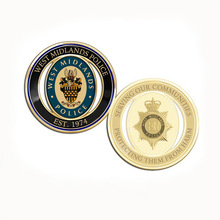 2018 new hot sale Enamel Gold-plated double-sided coin