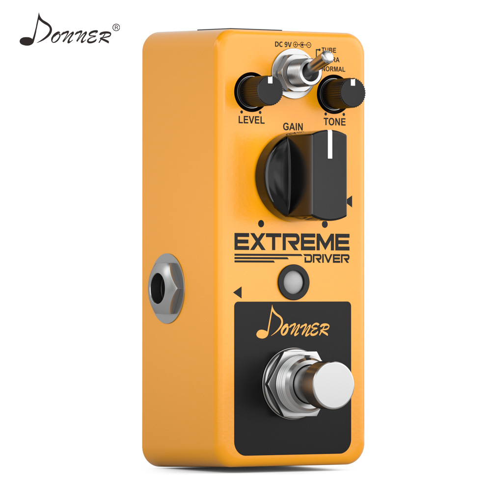 Donner New Extreme Driver ANALOG Distortion Guitar Effect Pedal Rich  Distorted Sound Iconic Classic Rock Distortion Guitar Part